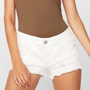 ☀️Women's Relaxed Destroyed Denim Shorts - Size 0